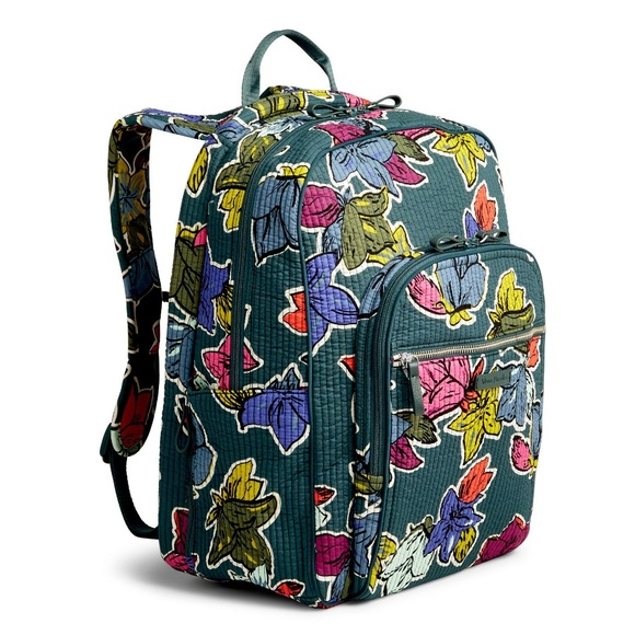 6c6c81f39f Vera Bradley Iconic Deluxe Campus Backpack Flowers